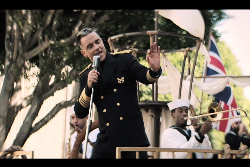 Secvență clip Robbie Williams -
