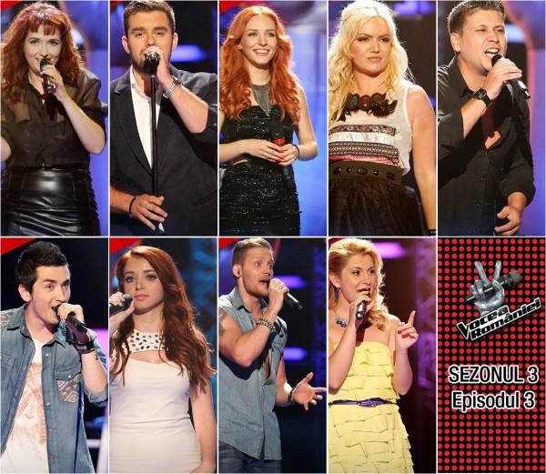 Concurenții acceptați la Vocea României 2013 - Episodul 3