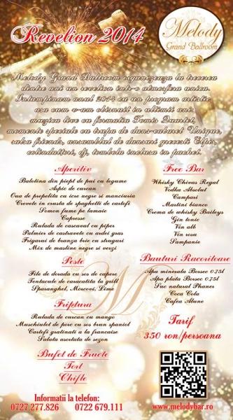 Poster eveniment Revelion 2014 la malul mării