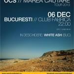 Afiș concert Omul cu șobolani în Club Fabrica din București pe 6 decembrie 2013
