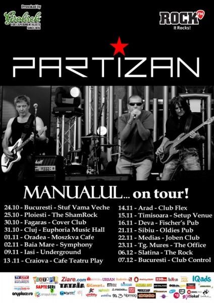 """Afis Partizan - Turneu național """"Manualul...on tour"""" 2013"""