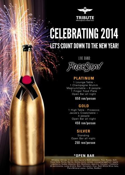 Revelion 2014 în Club Tribute