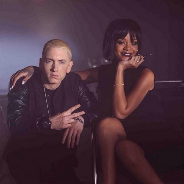 """Rihanna și Eminem pe platourile de filmări ale videoclipului """"The Monster"""""""