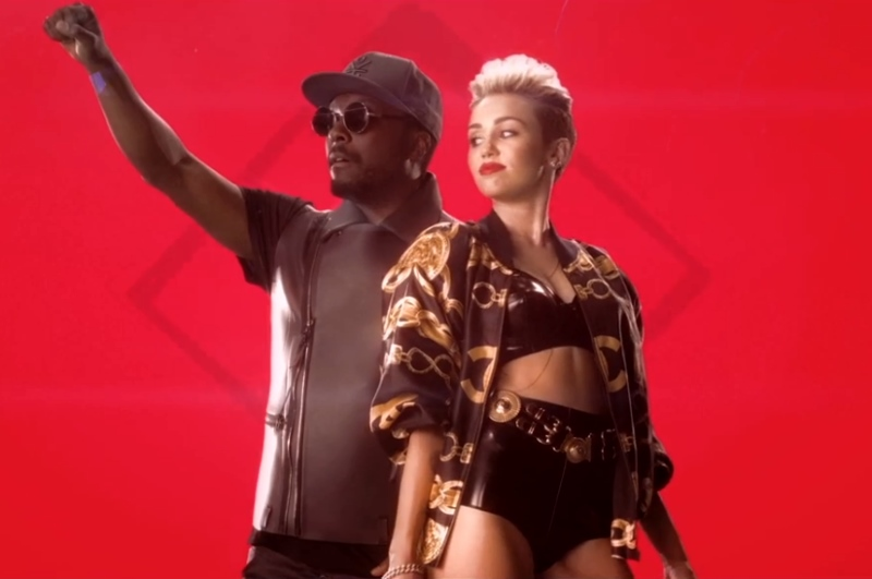 Will i.am. și Miley Cyrus -