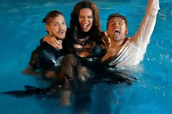 Florin Ristei, Alex Mațaev și Andree Lazăr au sărit în piscină de bucurie