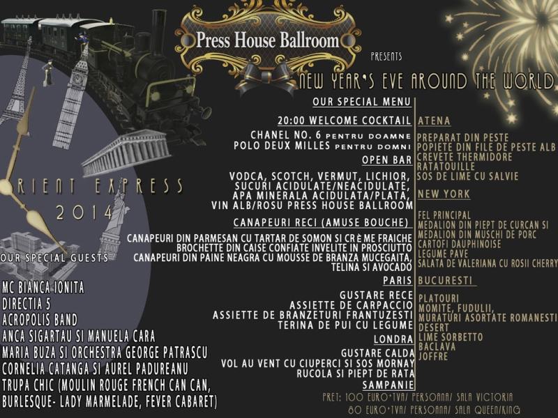 Revelion 2014 la Press House Ballroom