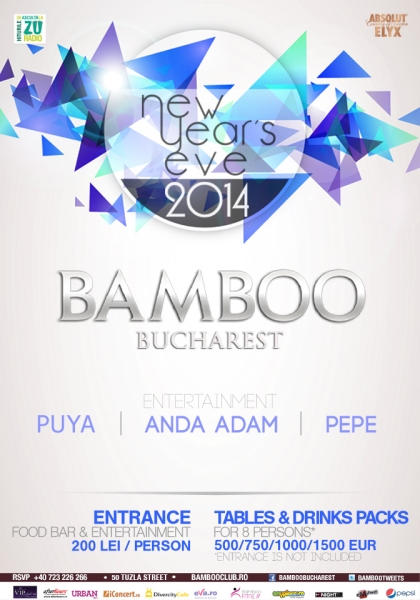 Revelion 2014 în Club Bamboo