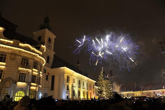Revelionul 2014 în Piaţa Mare la Piața Mare din Sibiu