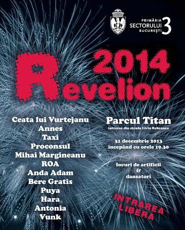 Revelion 2014 în Parcul Titan