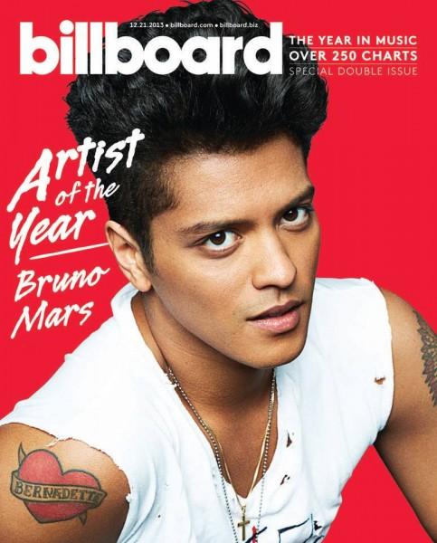 Coperta Billboard - Bruno Mars - Artistul anului 2013