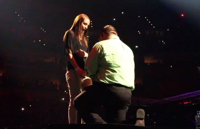 Cerere în căsătorie în timpul unui concert Justin Timberlake