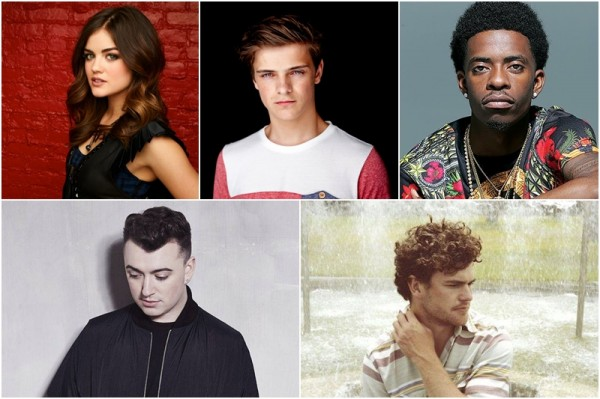 Lucy Hale, Martin Garrix, Rich Homie Quan, Sam Smith, Vance Joy