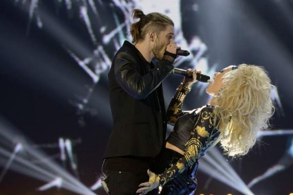 Alex Mațaev în duet cu Delia în finala X Factor