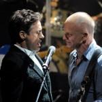 Robert Downey Jr și Sting pe aceeași scenă