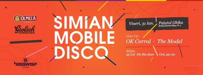 Simian Mobile Disco la Palatul Ghika