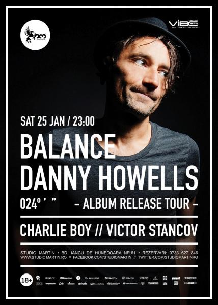 - afis-Danny-Howells-concert-studio-martin-bucuresti-25-ianuarie-2014
