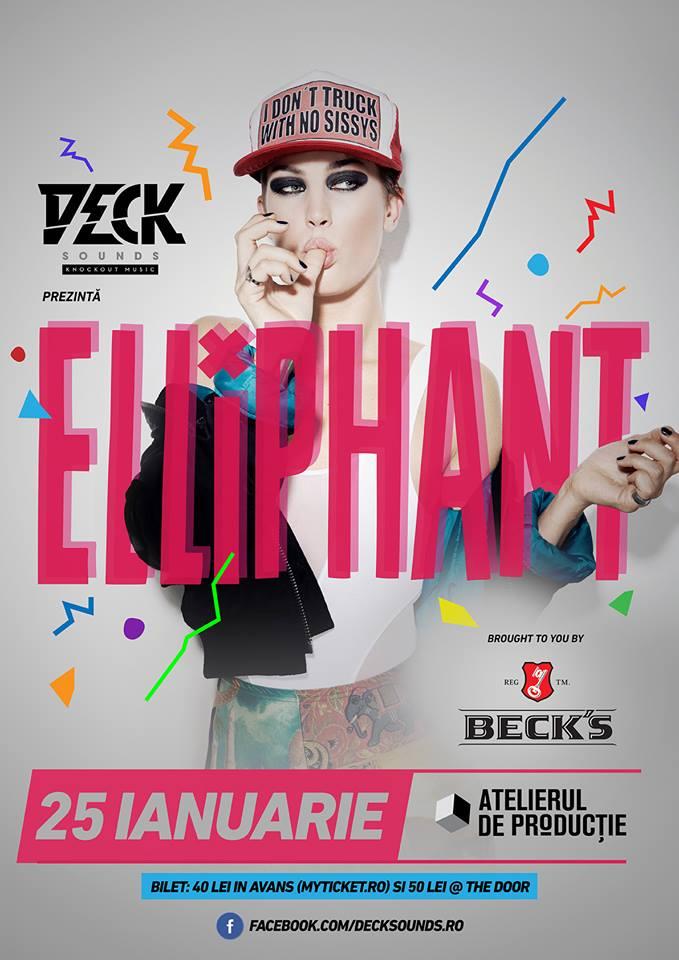 Deck Sounds prezinta Elliphant – in concert la Bucuresti
