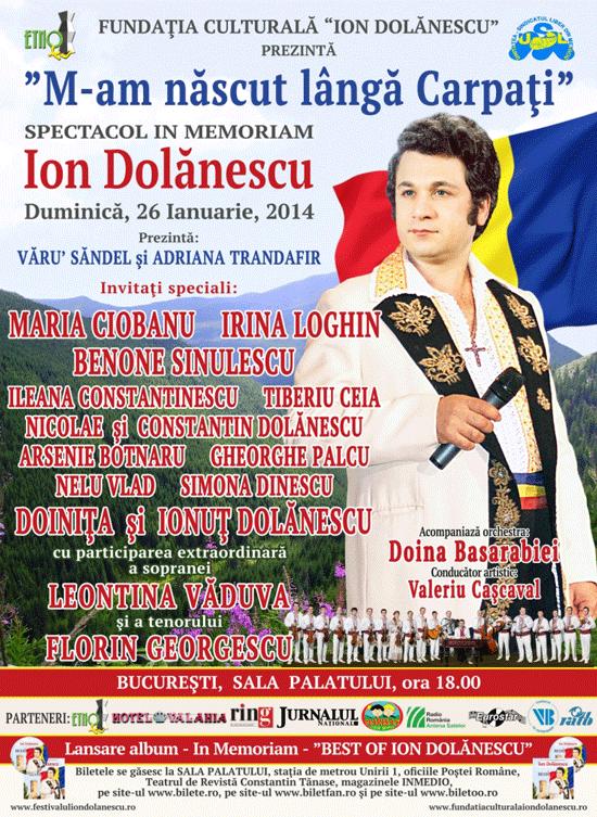 M-am născut lângă Carpați - Spectacol In memoriam Ion Dolanescu