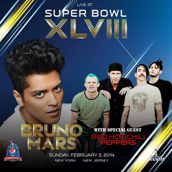 Membrii Red Hot Chilli Peppers, invitații speciali ai lui Bruno Mars la Super Bowl 2014
