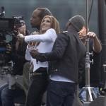 """Celine Dion și Ne-Yo la filmarea clipului """"Incredible, Los Angeles, ianuarie 2014"""