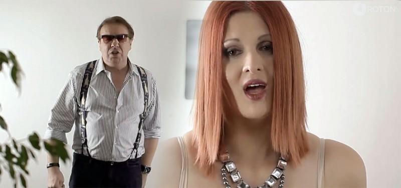 Gabriel Cotabiță și Oana Vincu într-o secvență din videoclipul