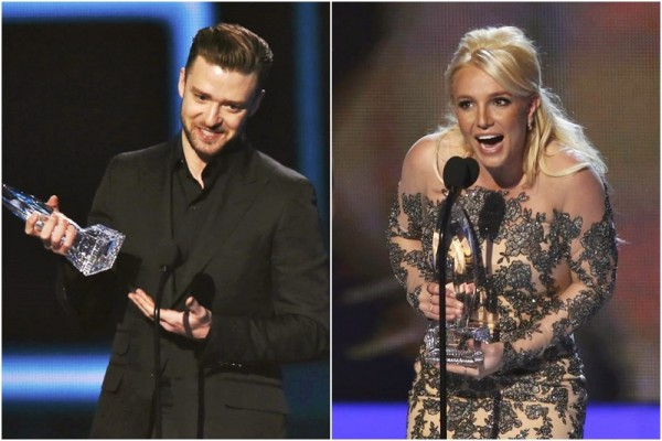 Justin Timberlake și Britney Spears la People's Choice Awards 2014