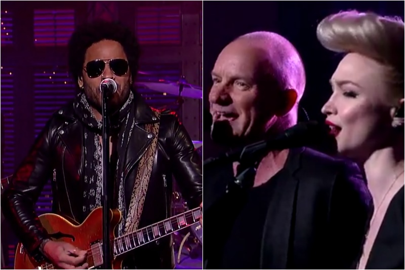 Lenny Kravitz și Sting, coveruri după The Beatles la David Letterman