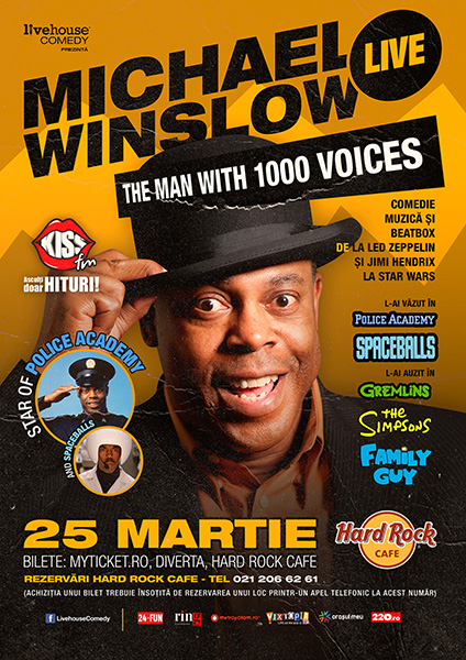 Michael Winslow la Hard Rock Cafe