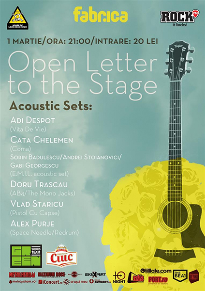 Open Letter to the Stage - Concert Acustic