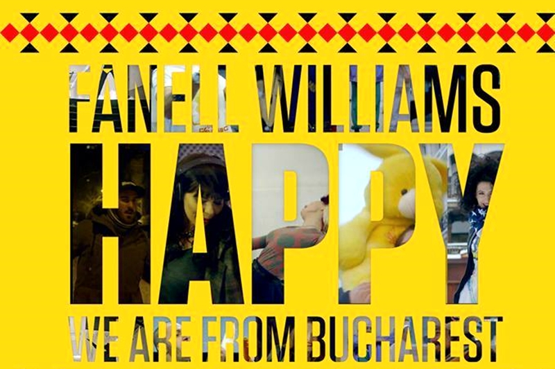 Pharrell Williams Happy - We are HAPPY in BUCHAREST Romania
