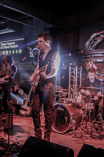 Dan Byron și colegii în concertul de lansare a discului Melancolic