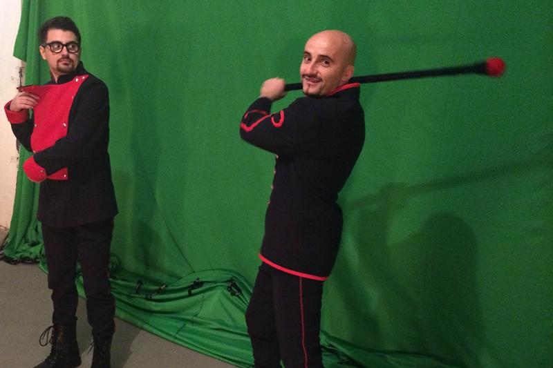 poze din timpul filmărilor noului clip Voltaj -