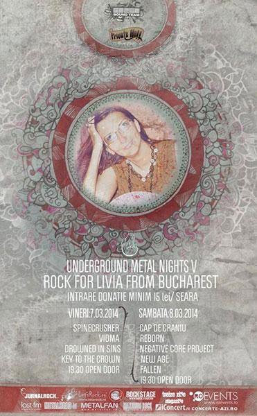 Underground Metal Nights V - Rock For Livia Beju