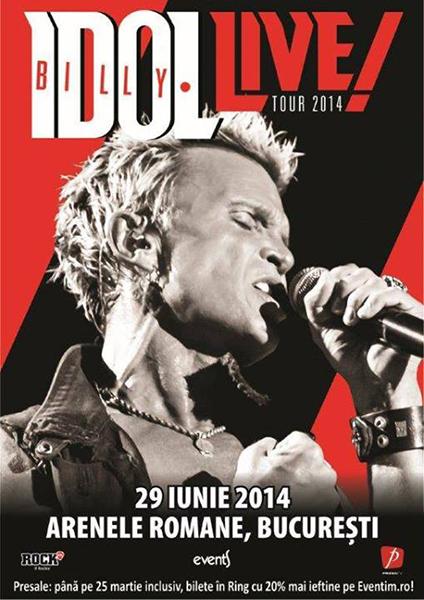 afis-Billy Idol-concert-arenele-romane-bucurestii-29-iunie-2014