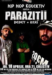 afis-Parazitii-concert-club-colectiv-bucuresti-10-aprilie-2014