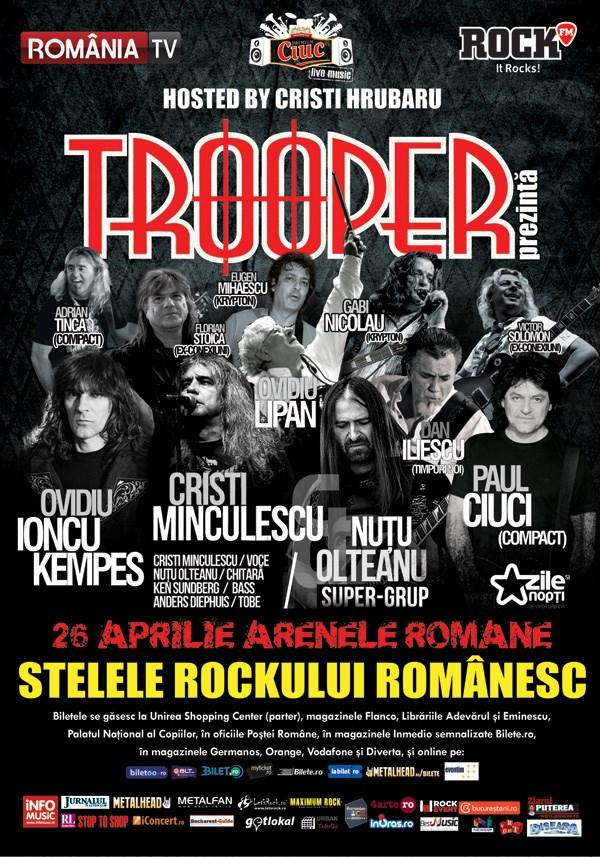Stelele Rockului Românesc la Arenele Romane