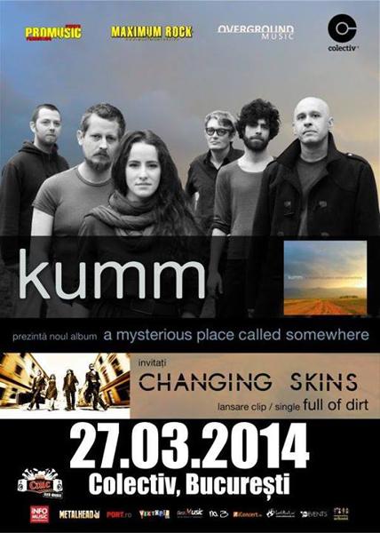 concert kumm Changing Skins club colectv 27 martie 2014