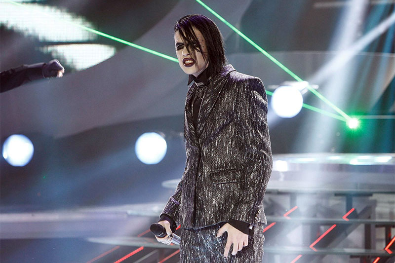 Florin Ristei l-a imitat pe Marilyn Manson