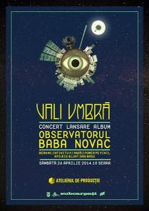 afia concert Vali Umbră lansare album 26 aprilie 2014