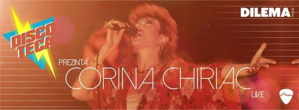 afis-Concert Corina Chiriac pe 11 aprilie în Club Control