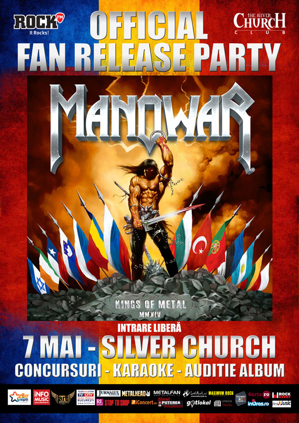Release party Manowar – Kings Of Metal MMXIV la The Silver Church