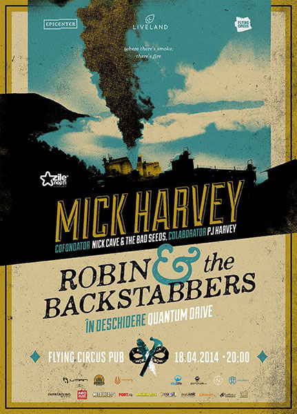 concertMick Harvey si Robin and the Backstabbers cluj napoca