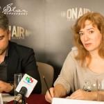 Zoli Toth și Anca Lupeș în cadrul conferinței de presă On Air Music Awards 2014 pe 8 aprilie la Intercontinental