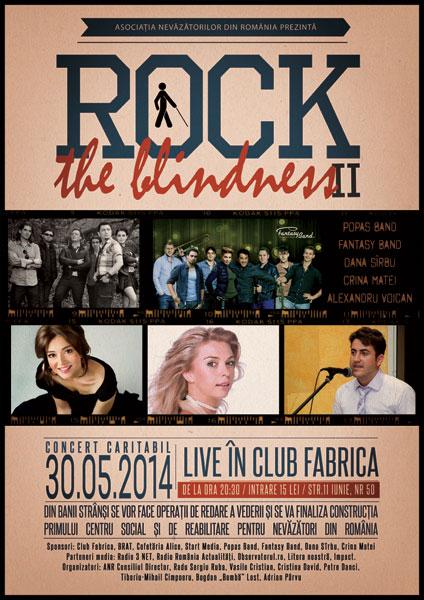 Rock the Blindness - Concert Caritabil