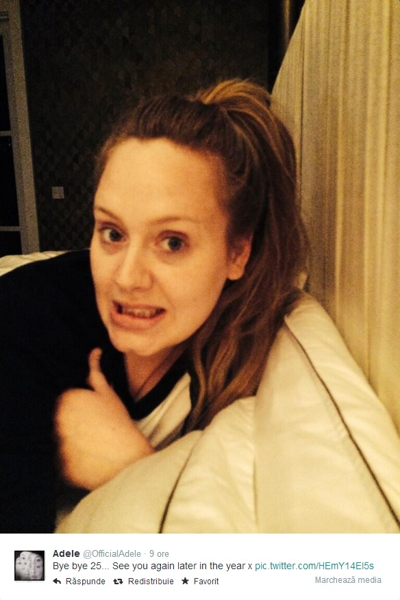 Adele indică titlul noului album pe Twitter