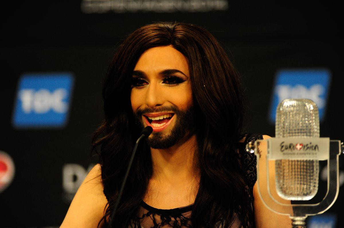 Conchita Wurst la conferinta post-finala Eurovision 2014