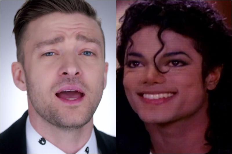 Michael Jackson și Justin Timberlake -