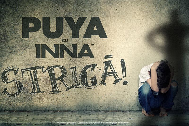 Artwork-ul single-ului Strigă! (Puya & INNA)