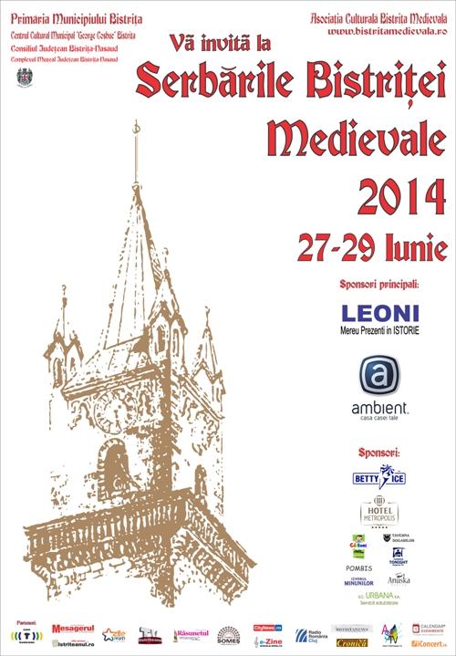 Serbarile Bistritei Medievale 2014 la Centrul Istoric Bistrița