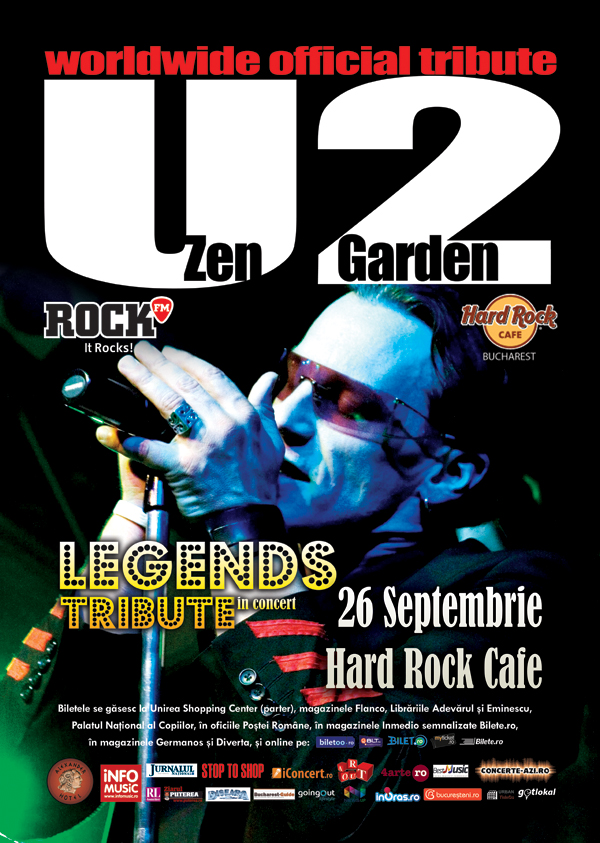Zen Garden - Tribute U2 la Hard Rock Cafe